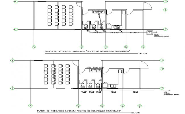 Water plumbing pipe detail