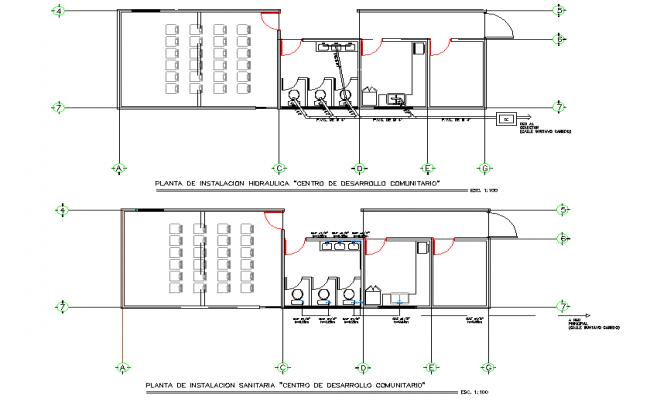 Water plumbing plan detail dwg file