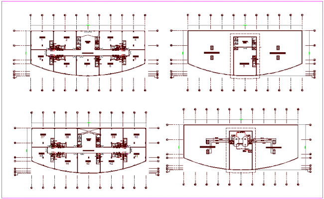 Water supply pipe line view of office building plan dwg file