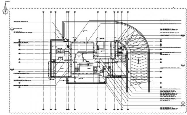 Water supply system of basement floor plan.