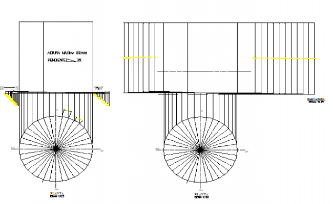Water tank architecture project dwg file