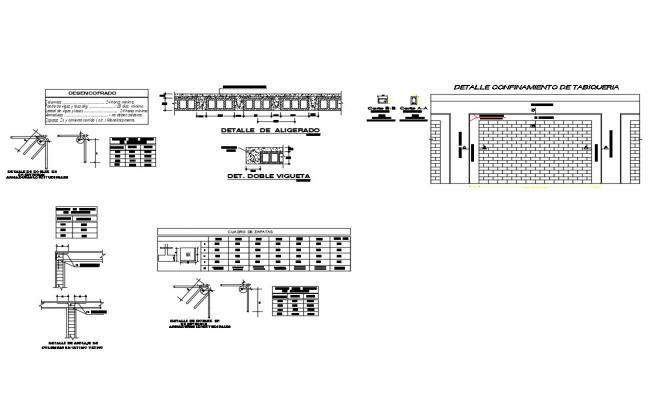 Water tank construction, column construction and wall construction details of house dwg file