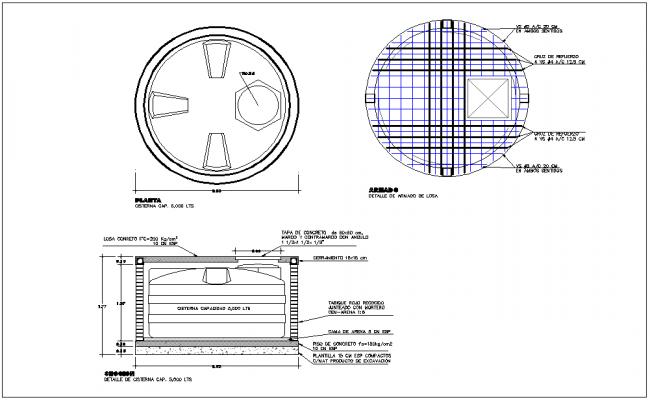 Water tank detail dwg file
