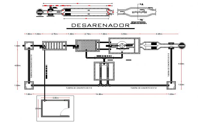 Water treatment plant autocad file