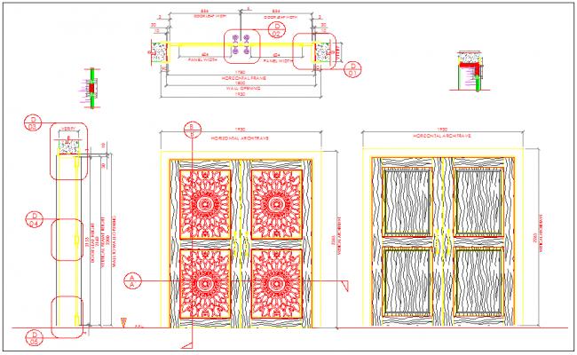 West bay double door design for tower