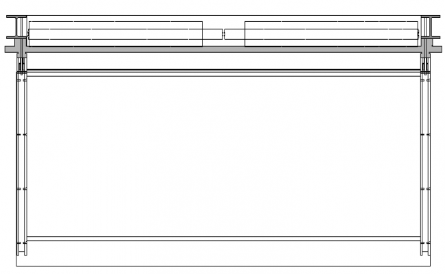 Window Frame Elevation dwg file