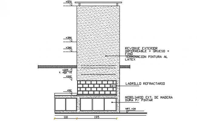 Window Wall section view detail dwg file