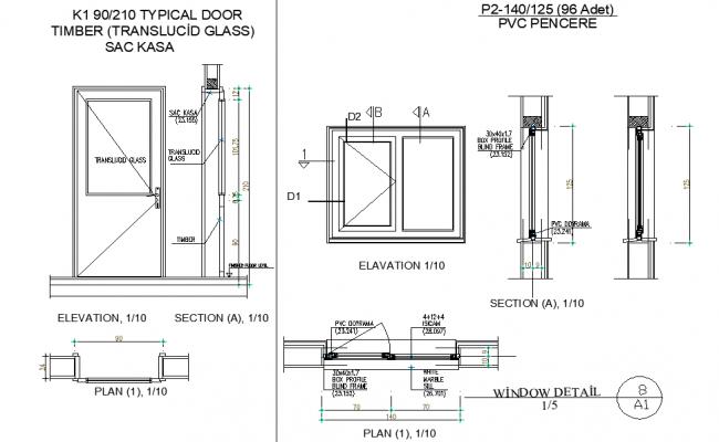 Window and door plan autocad file
