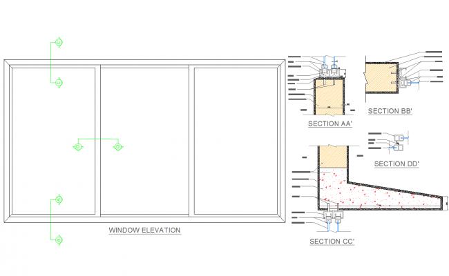 Window detail dwg files