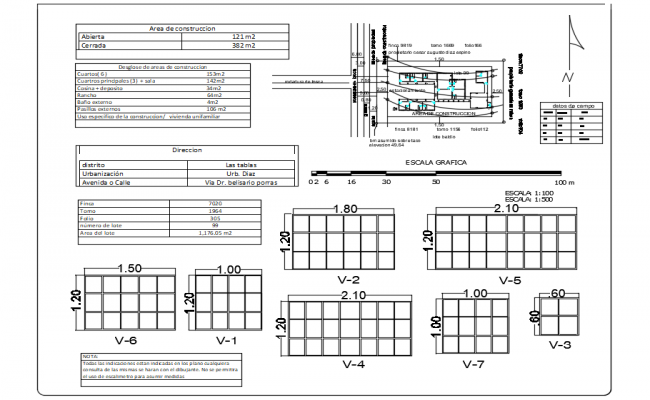 Window elevation view with area detail view dwg file
