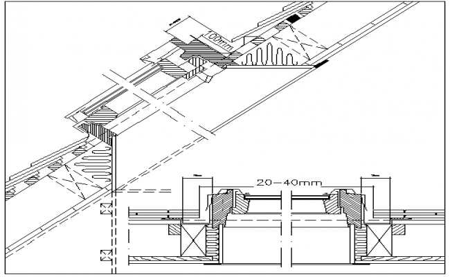 Window installation details of building dwg file