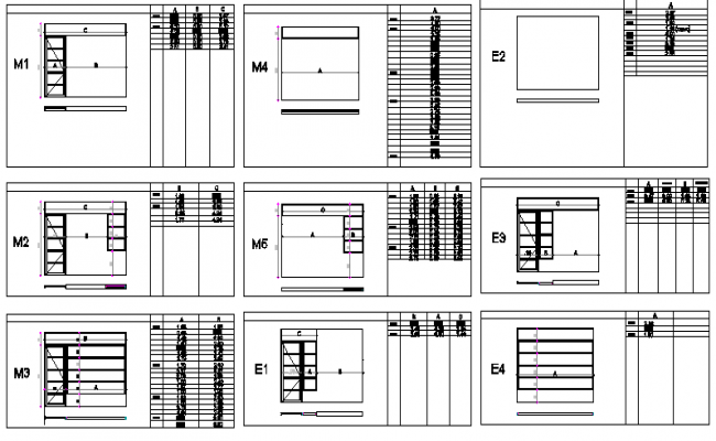 Window installation details of house dwg file