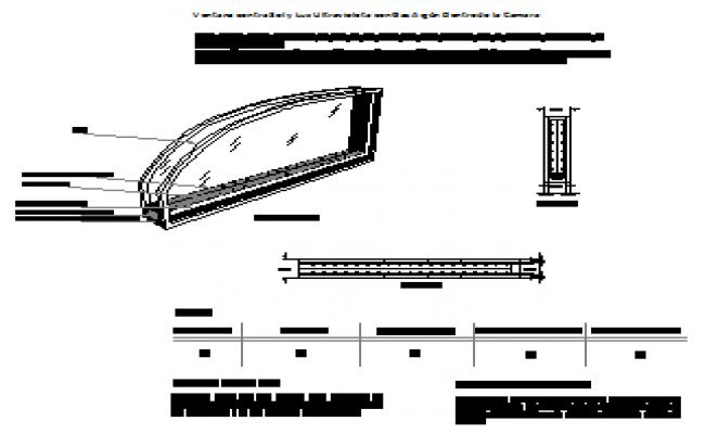 Window interior design detail drawing