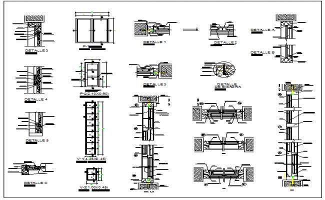 Windows details drawing