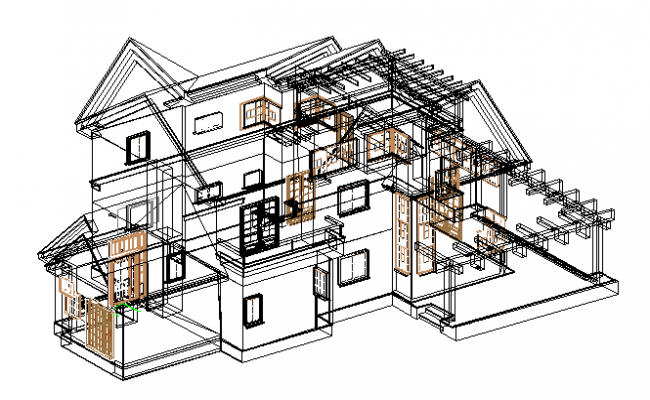 Wireframe 3d detail file