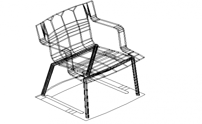 Wireframe detailing of chair