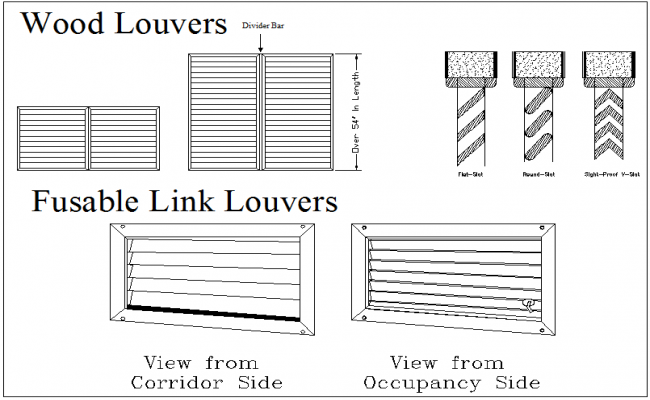 Wood Louvers Detail