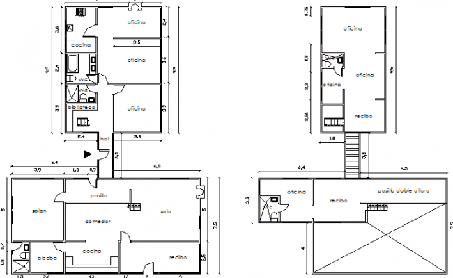 Wooden House Design and Elevation dwg file