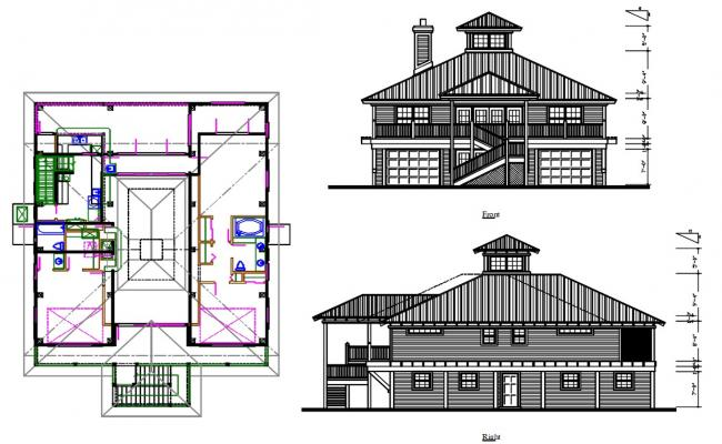 Wooden House Project AutoCAD Plan