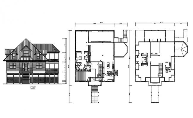 Wooden House Project DWG File