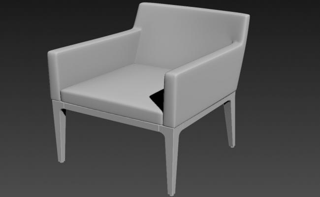 Wooden Modern Style Chair In 3D MAX File Free Download