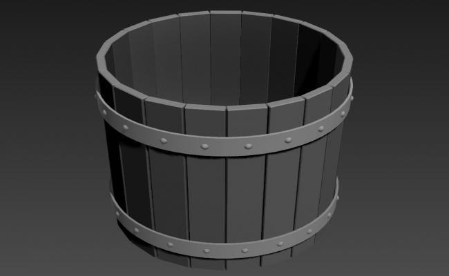 Wooden Pot Design 3d Max File