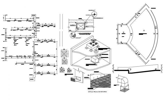 Wooden Roof Design Download CAD file