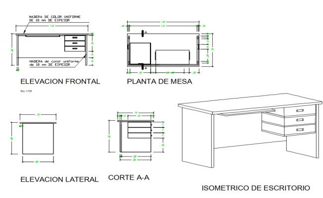 Wooden Table Carpenting DWG File
