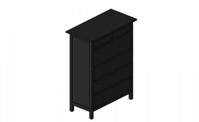 Wooden drawing room cabinet 3d drawing details dwg file