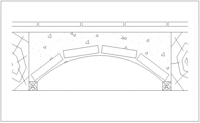 Wooden frame work design view