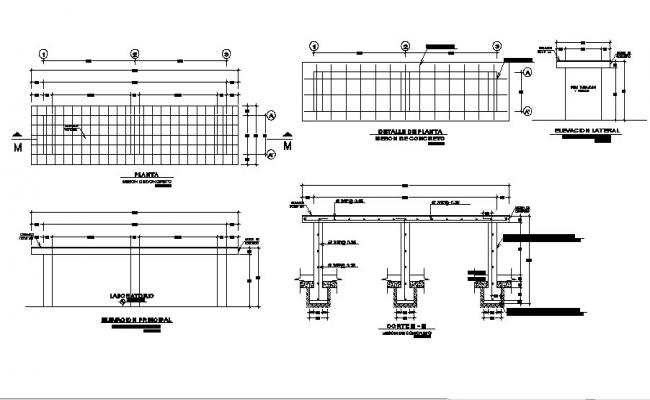 Wooden office table elevation, section and plan details dwg file