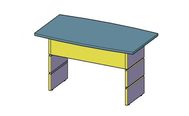 Wooden table 3d block cad drawing details dwg file