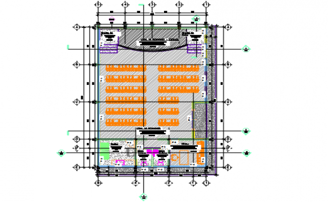 Working Commercial plan detail dwg file