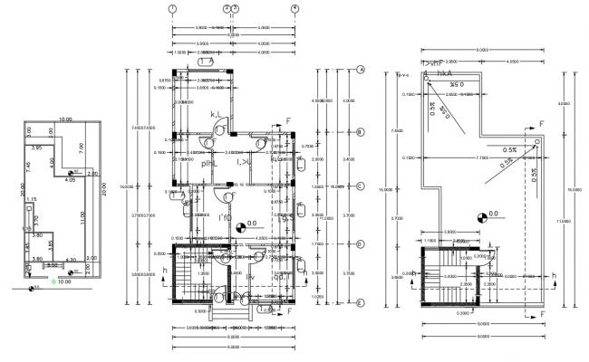 Working Drawing Bungalow Floor Plan CAD File