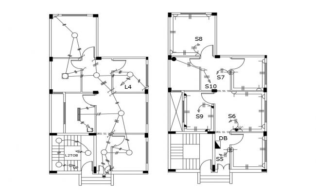 House Electrical Layout AutoCAD File