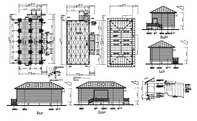 Working House Project DWG File