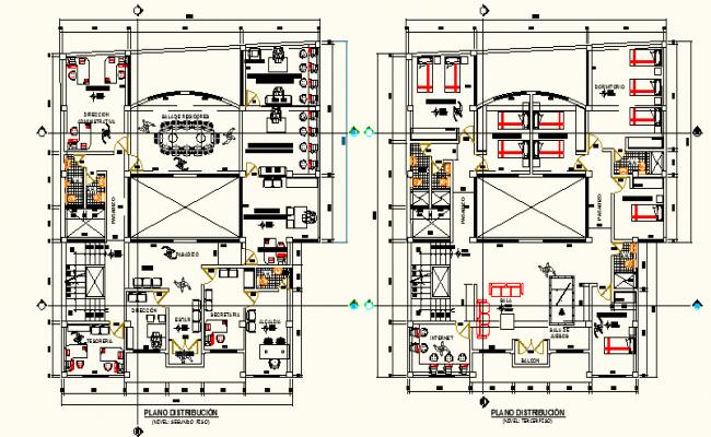 Working Office plan detail dwg file