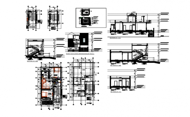 Working drawing residence
