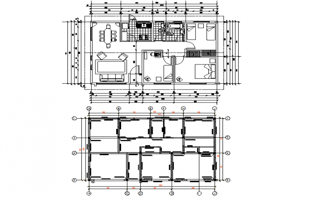 Working house detail dwg file