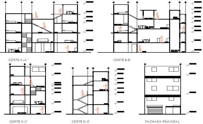 Working house plan detail dwg file