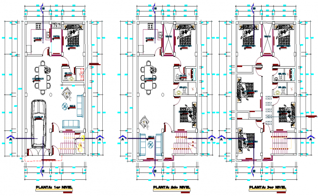 Working house plan layout file