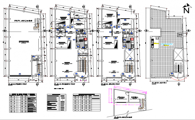Working house planning detail dwg file