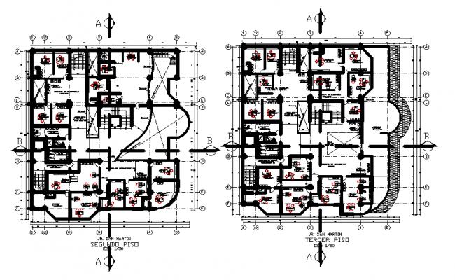 Working layout plan detail dwg file