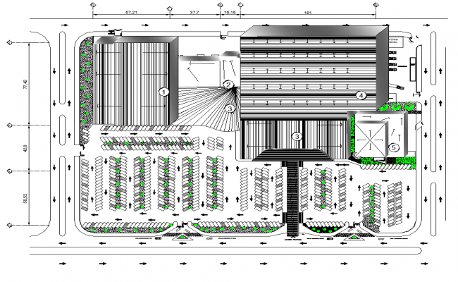 Working mall project plan dwg file