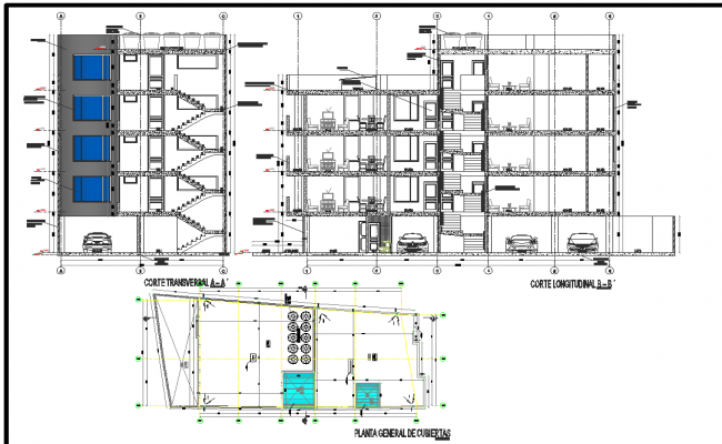 Working plan and elevation detail dwg file