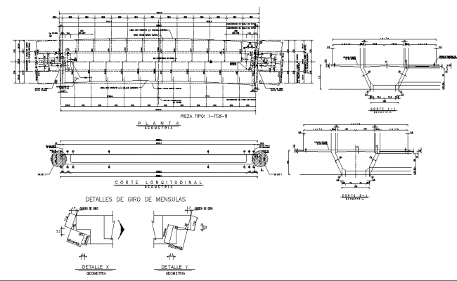 Working plan and section detail dwg file