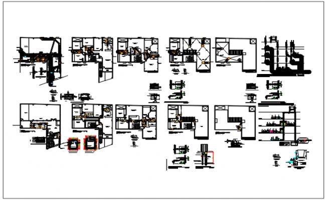 Working plan detail and elevation plan detail dwg file