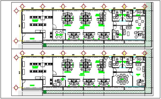 Working plan detail dwg file