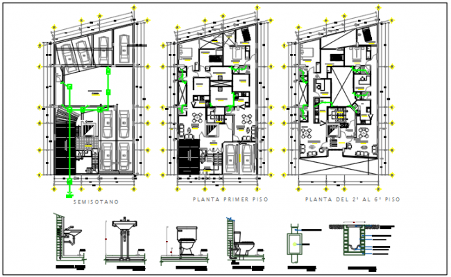 Working plan detail dwg file