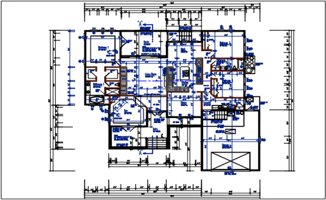 Working plan detail of the dwg file